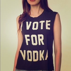I VOTE FOR VODKA Muscle Tee • Urban Outfitters